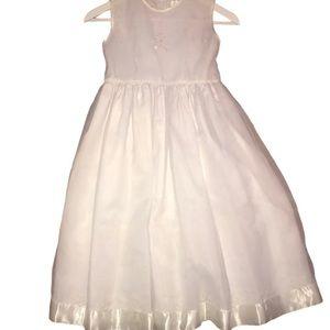 Strasburg Heirloom Collection Girls Dress White